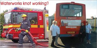 Fireman and Bus images