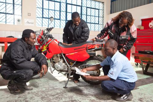 Riders in Workshop