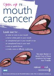open up to mouth cancer poster