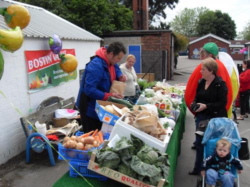 Selling fruit and veg
